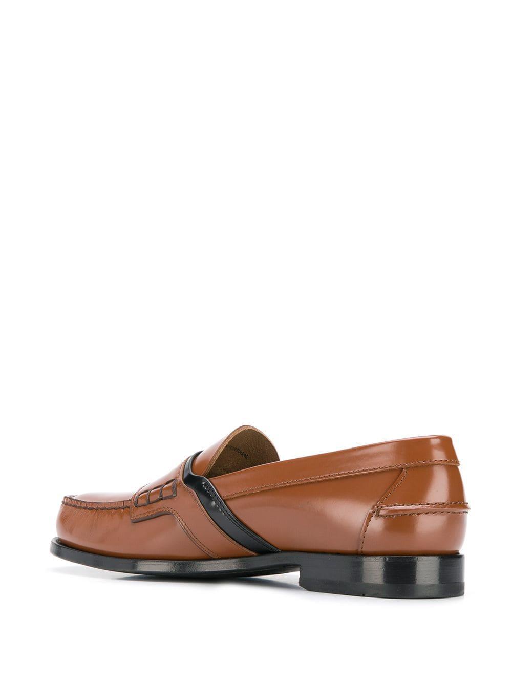 bac41099 Prada Brown Classic Logo Loafers for men
