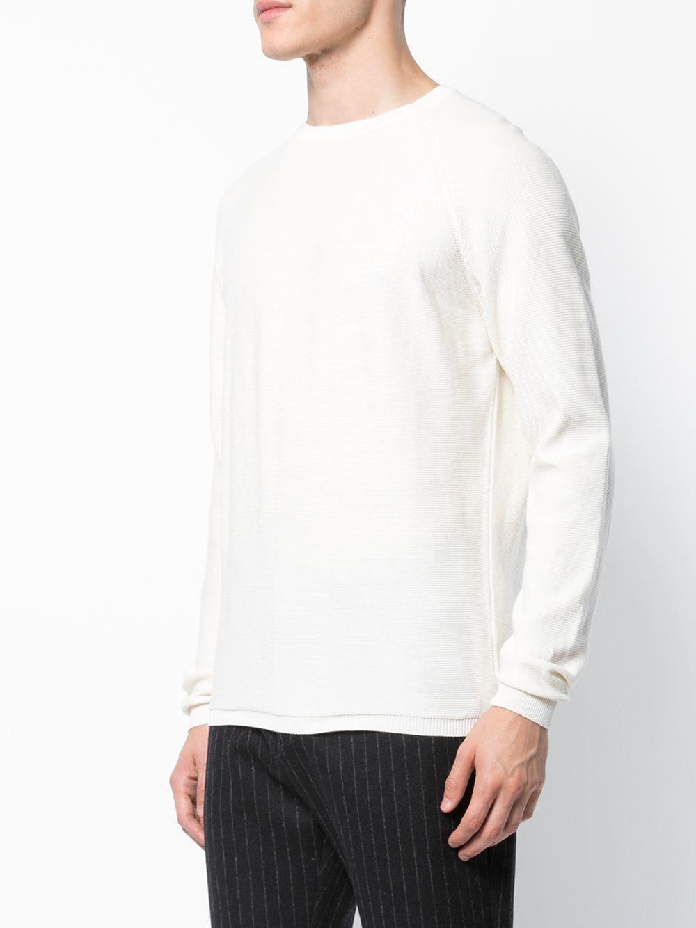 Homecore Cotton Iris Knitted Jumper in White for Men