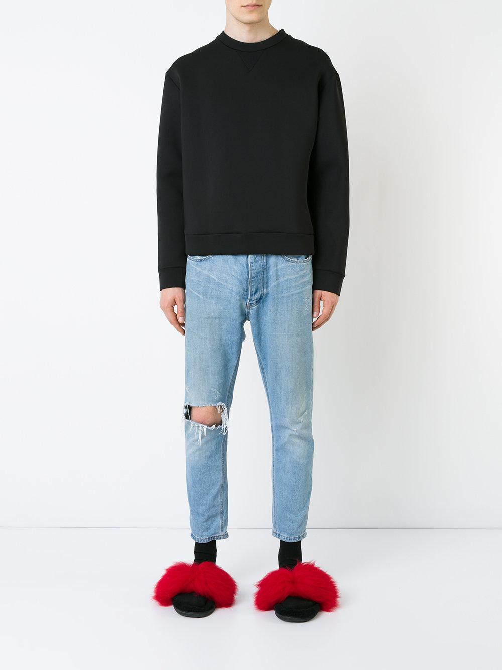 EX Infinitas Synthetic Wet Suit Crew Neck Sweatshirt in Black for Men