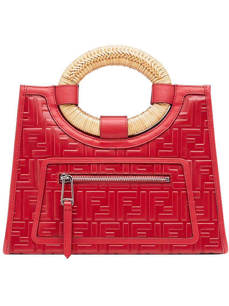 d5495600b8cc Lyst - Fendi Runaway Shopper Bag in Red