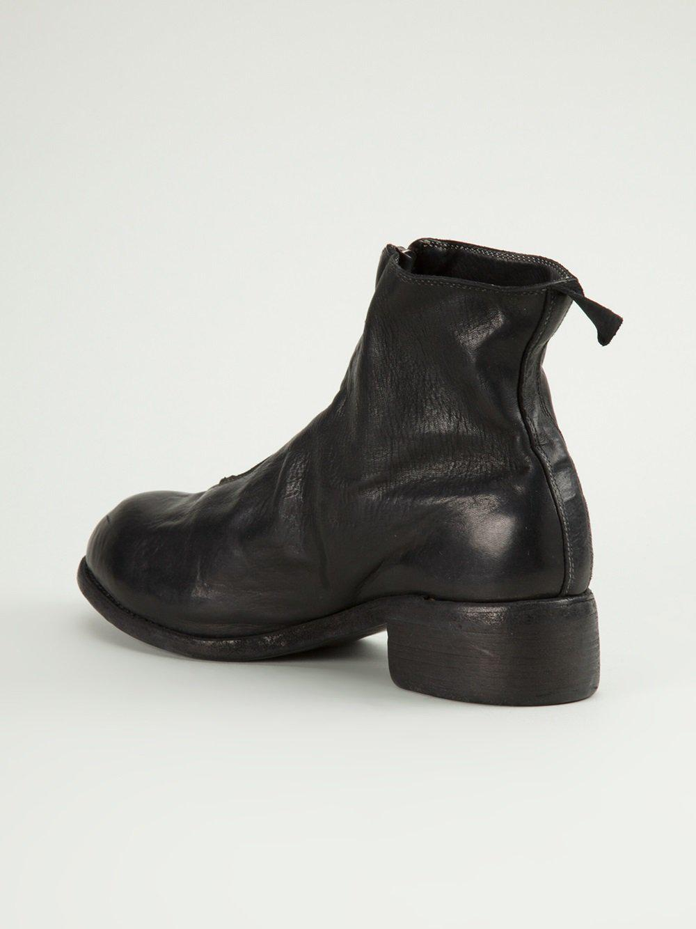 Lyst Guidi Front Zip Boots Men Horse Leather