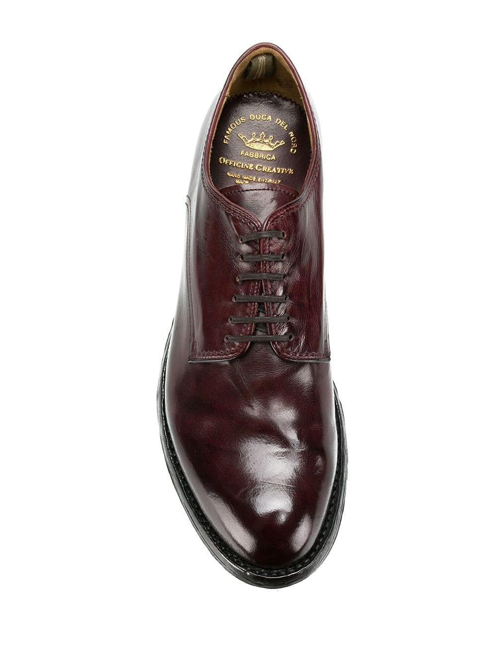 Zapatos con cordones Anatomia Officine Creative de Cuero de color Rojo para hombre