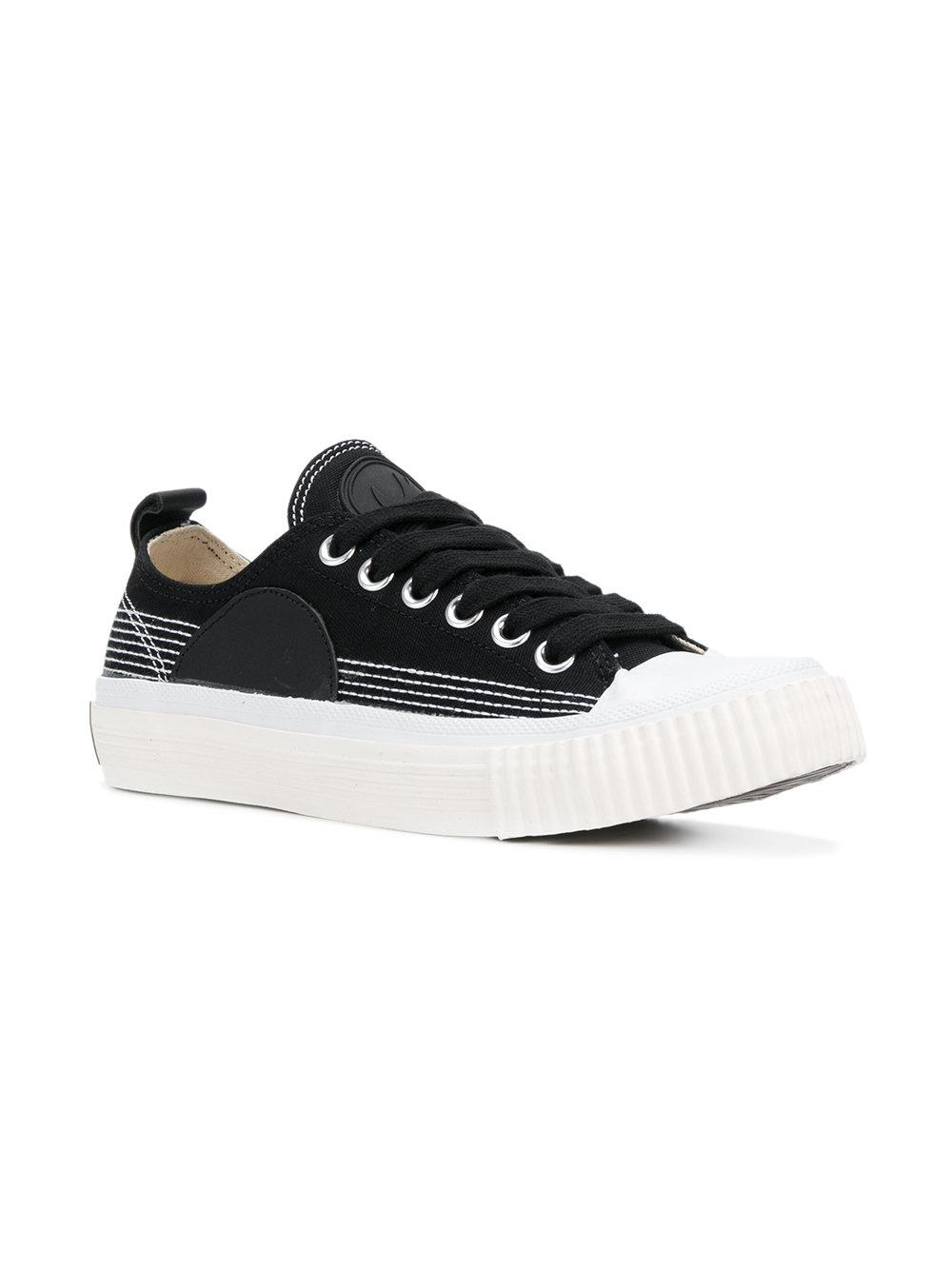 McQ Canvas Toe Capped Sneakers in Black