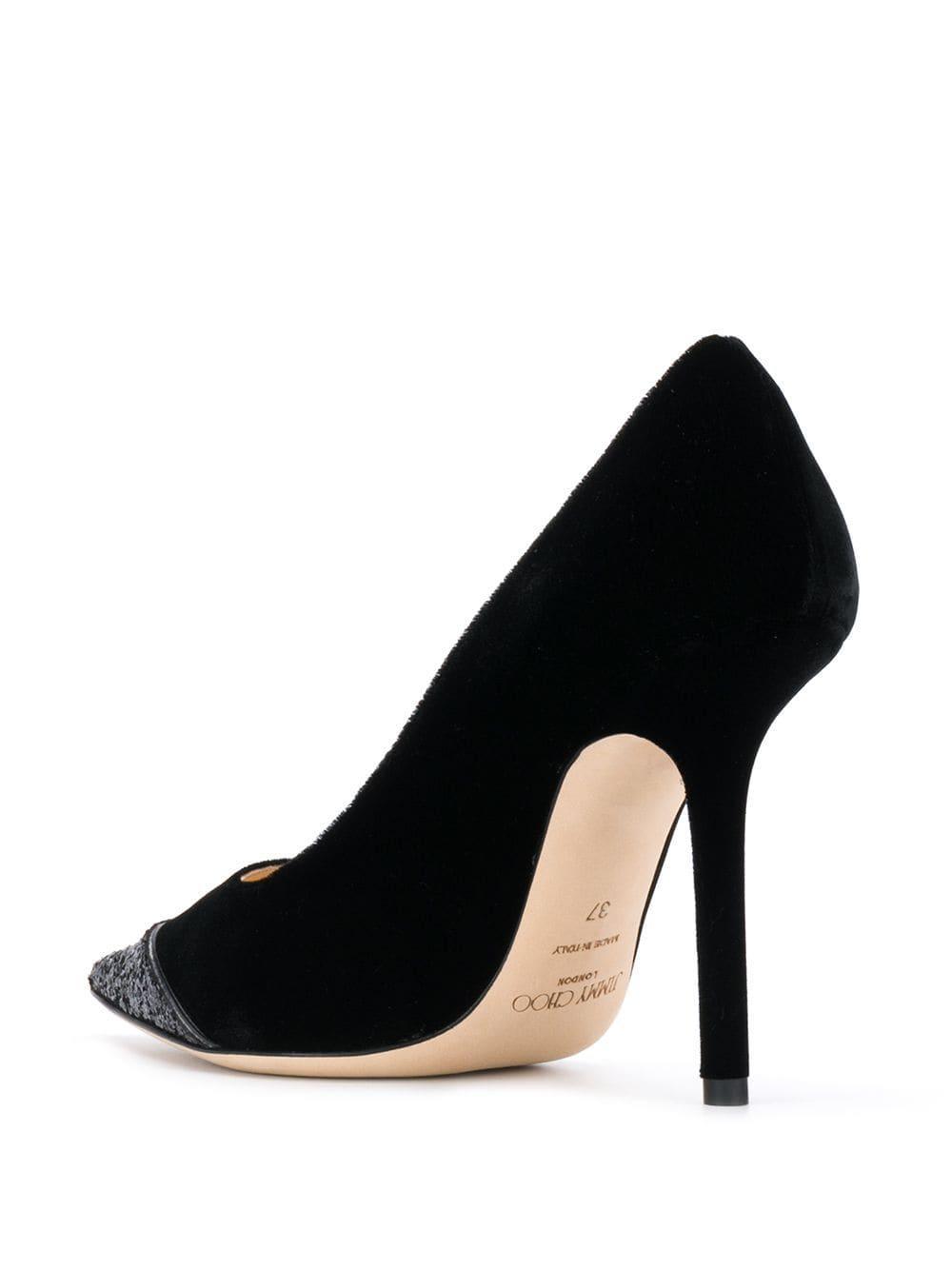 Zapatos de tacón Love 100 Jimmy Choo de Cuero de color Negro