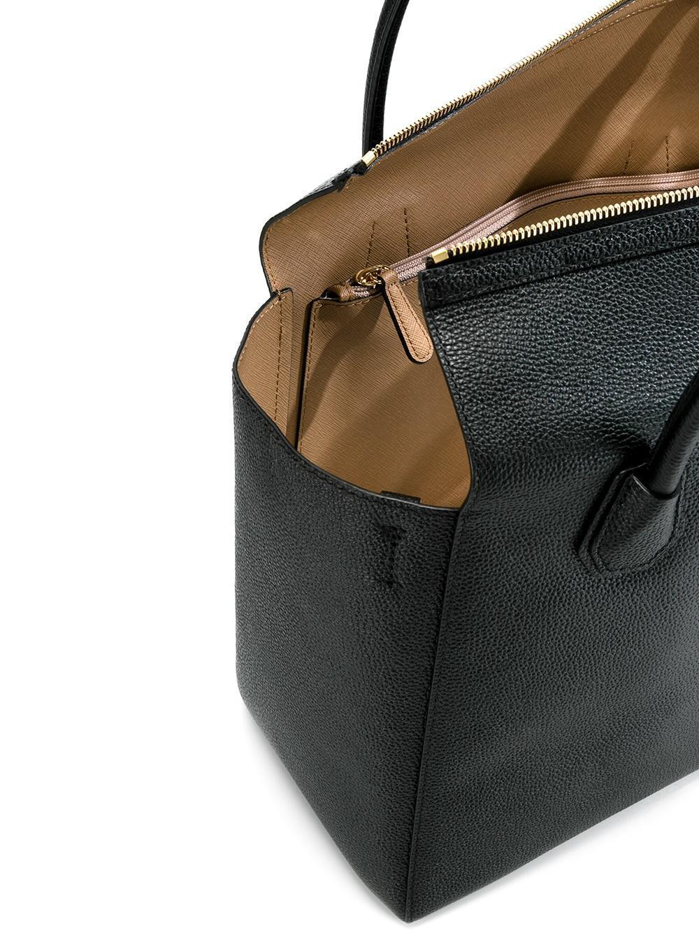 MICHAEL Michael Kors Leather 'mercer' Tote in Black