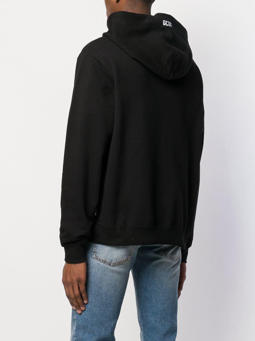 Gcds Katoen Hoodie Met Logo in het Zwart voor heren