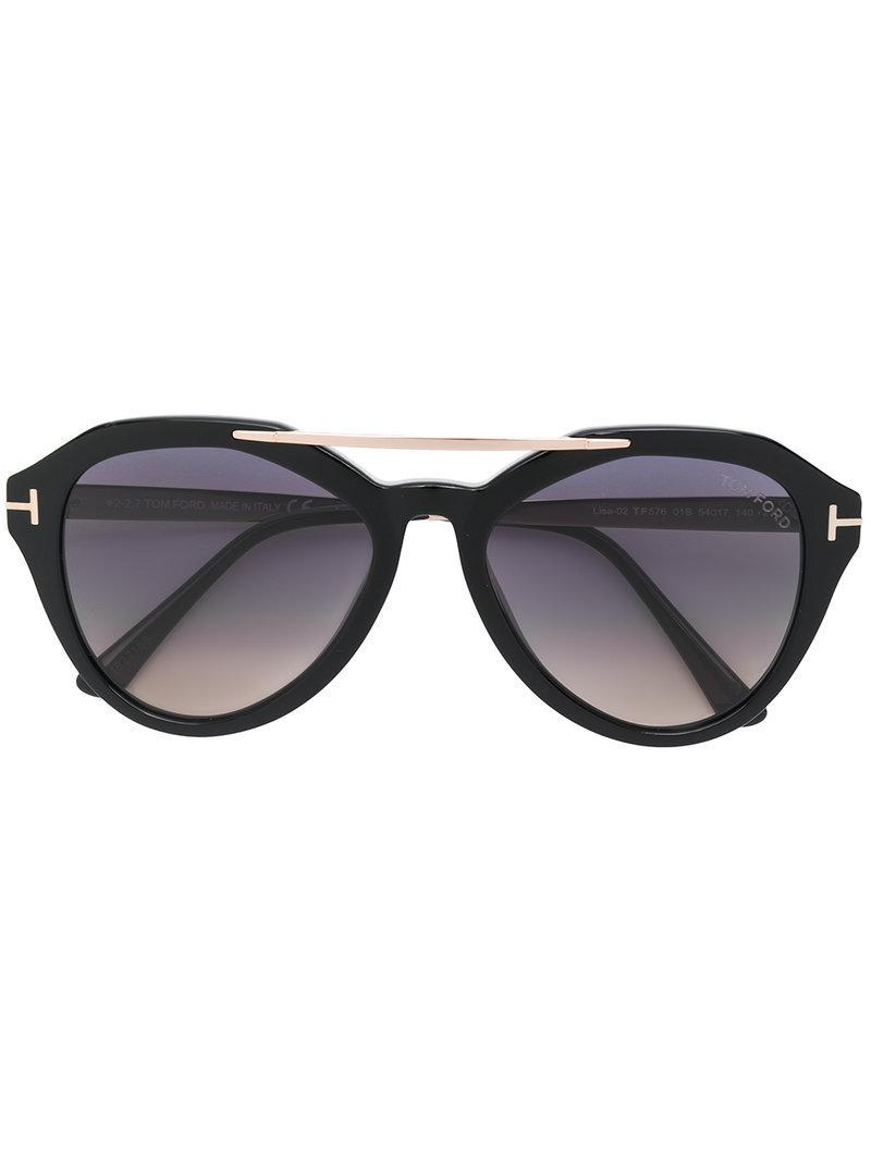 lyst tom ford ft0576s sunglasses in black. Black Bedroom Furniture Sets. Home Design Ideas