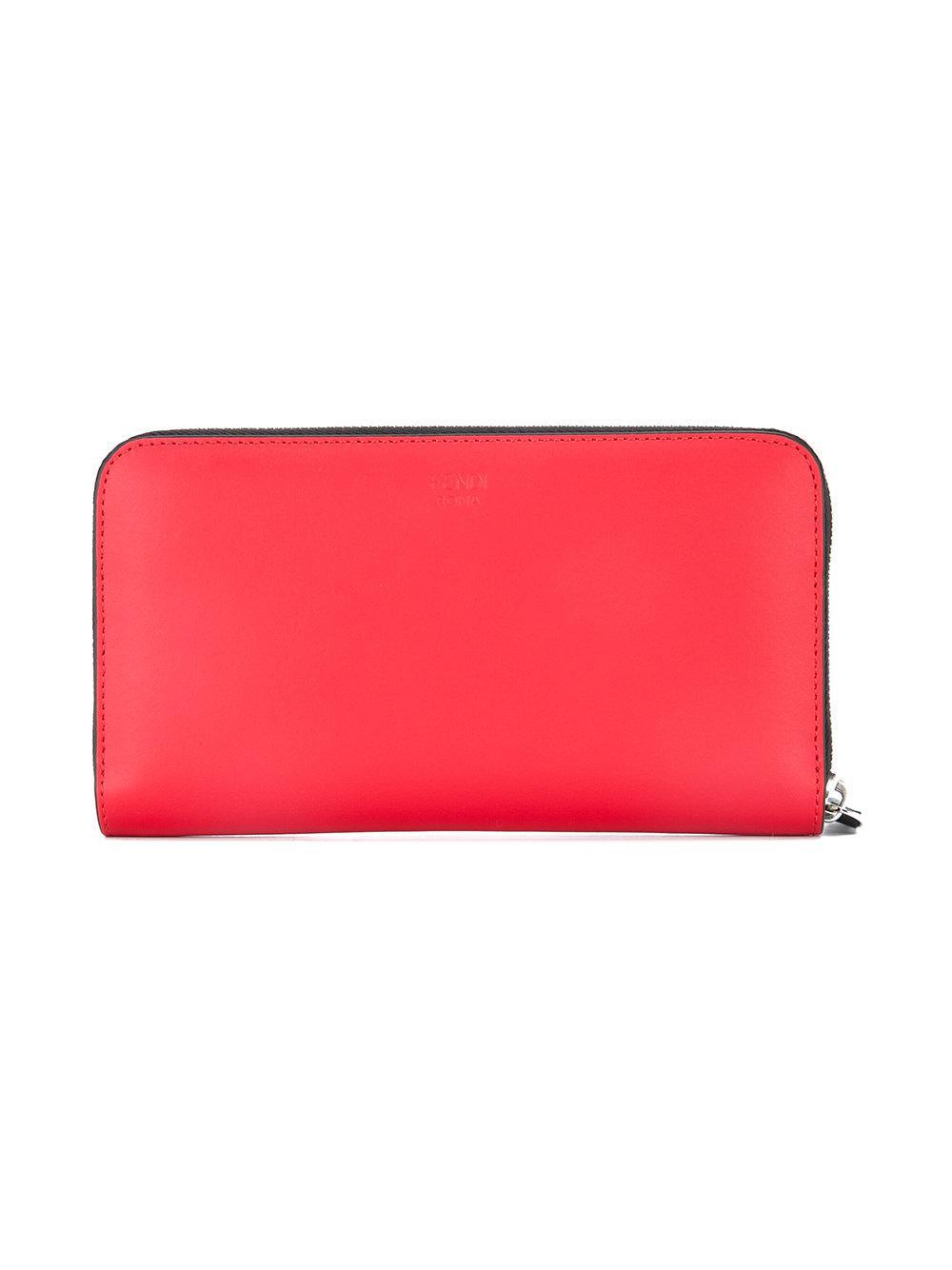 2efab871072d Fendi Bag Bugs-appliqué Wallet in Red for Men - Lyst