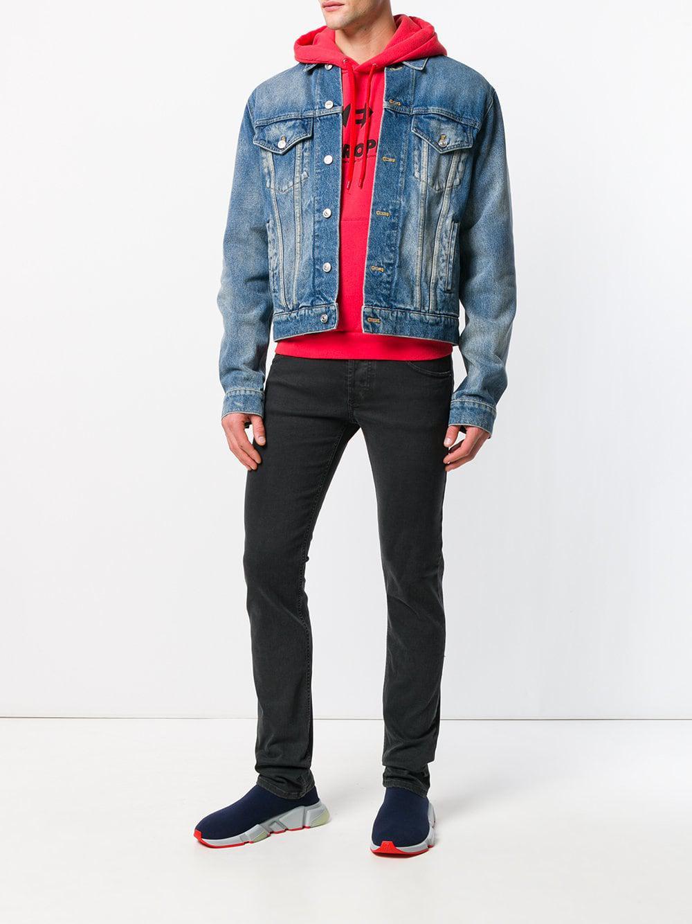 4edb13cb9fe8f Balenciaga Speed Knit Sneakers in Blue for Men - Save 36% - Lyst