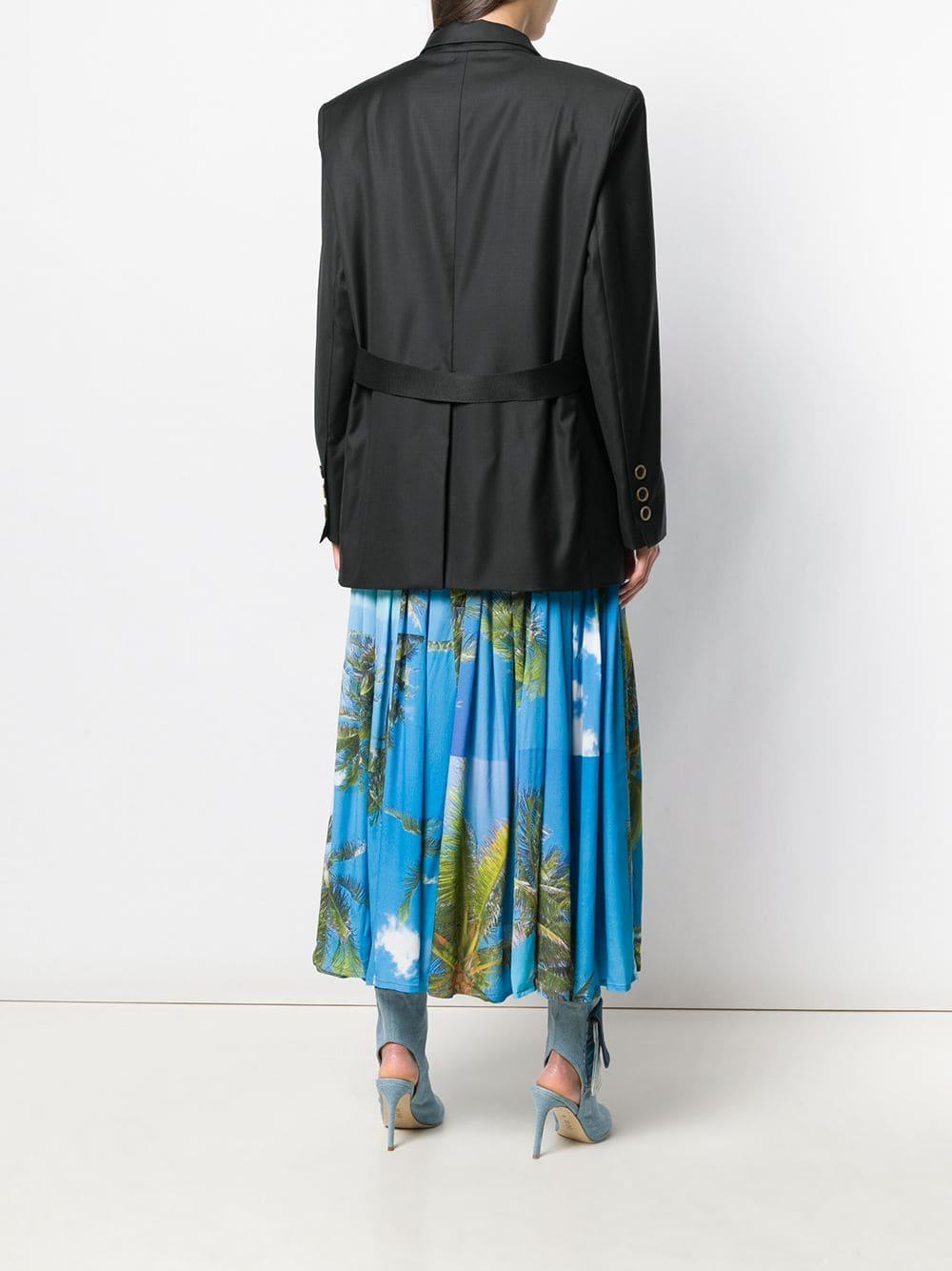 Chaqueta larga con vestido removible Natasha Zinko de Lana de color Negro