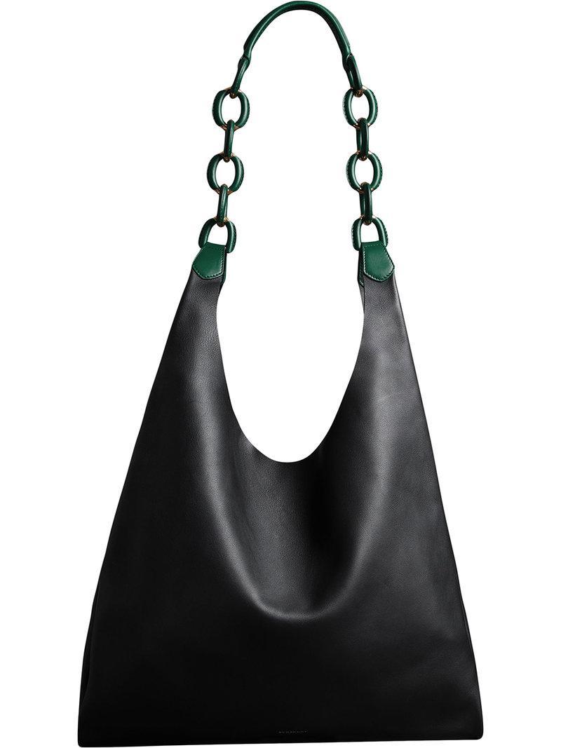 Lyst - Sac porté épaule médium Burberry en coloris Noir 4d42b62491cb