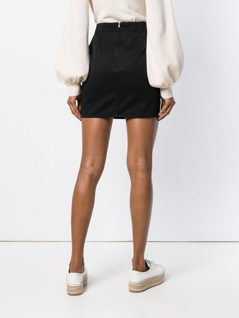 Étoile Isabel Marant Cotton Frilled Fitted Skirt in Black
