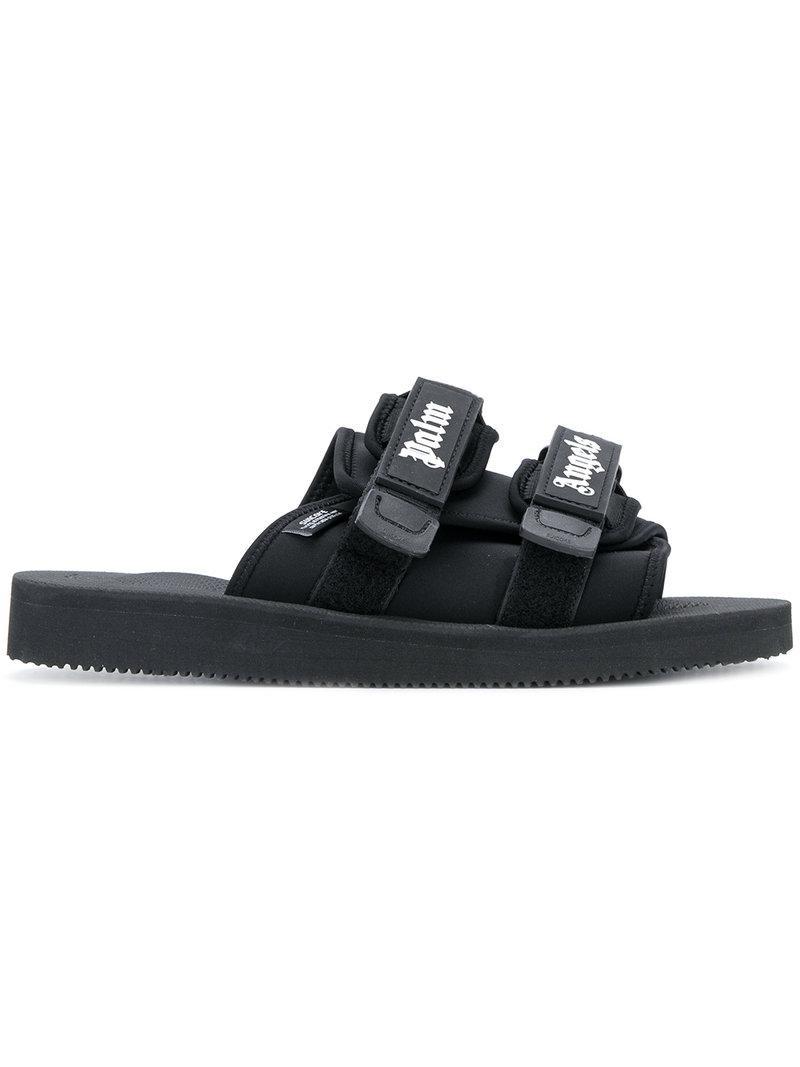 733d45b59548 Lyst - Palm Angels Suicoke Slides in Black for Men
