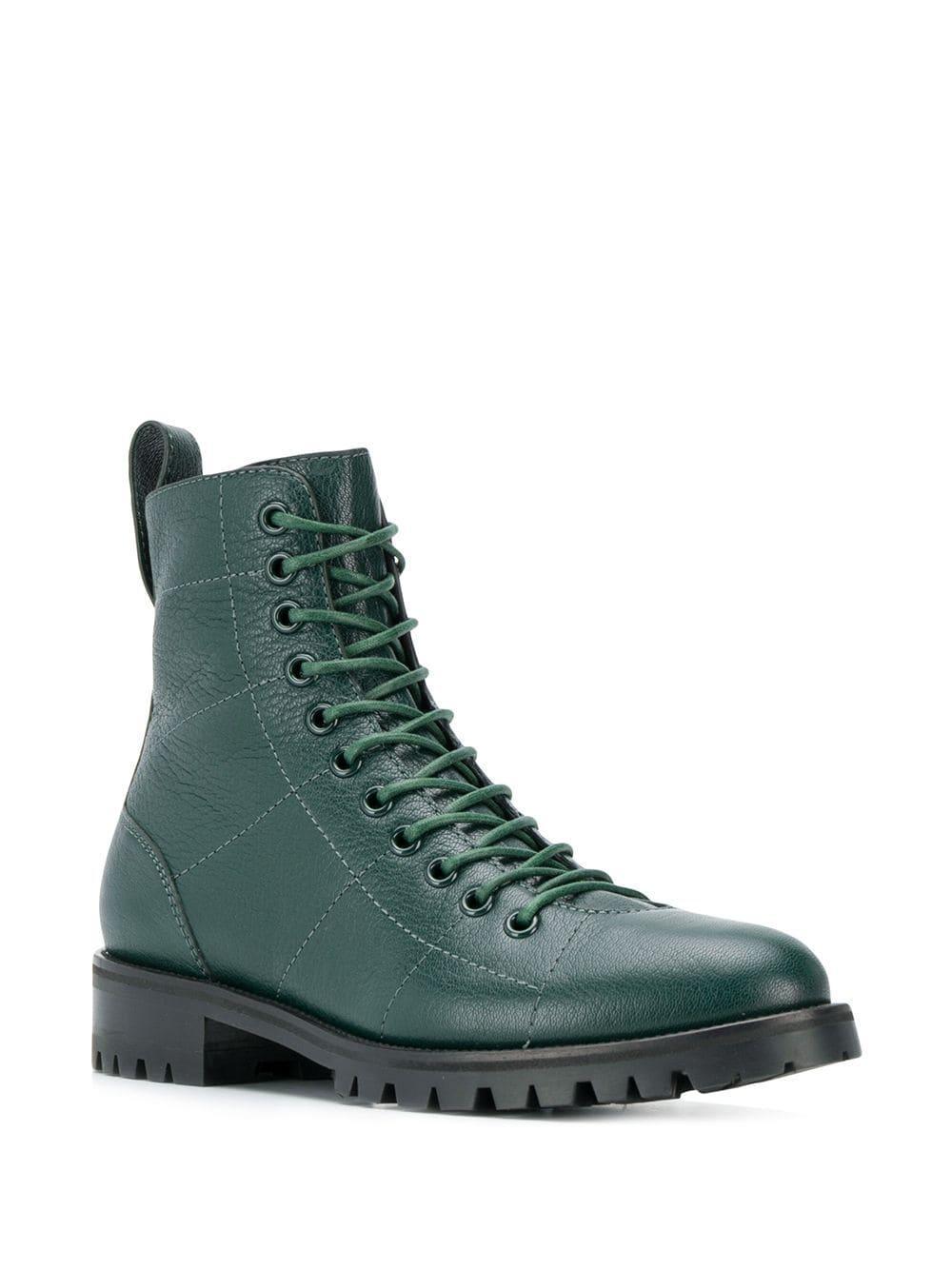 Botas militares Cruz Jimmy Choo de Cuero de color Verde