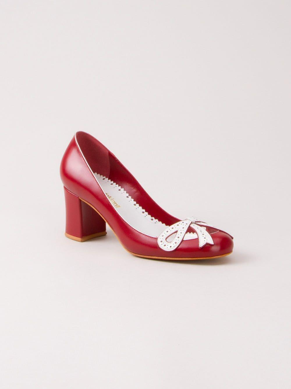 Leather pumps Sarah Chofakian de color Rojo