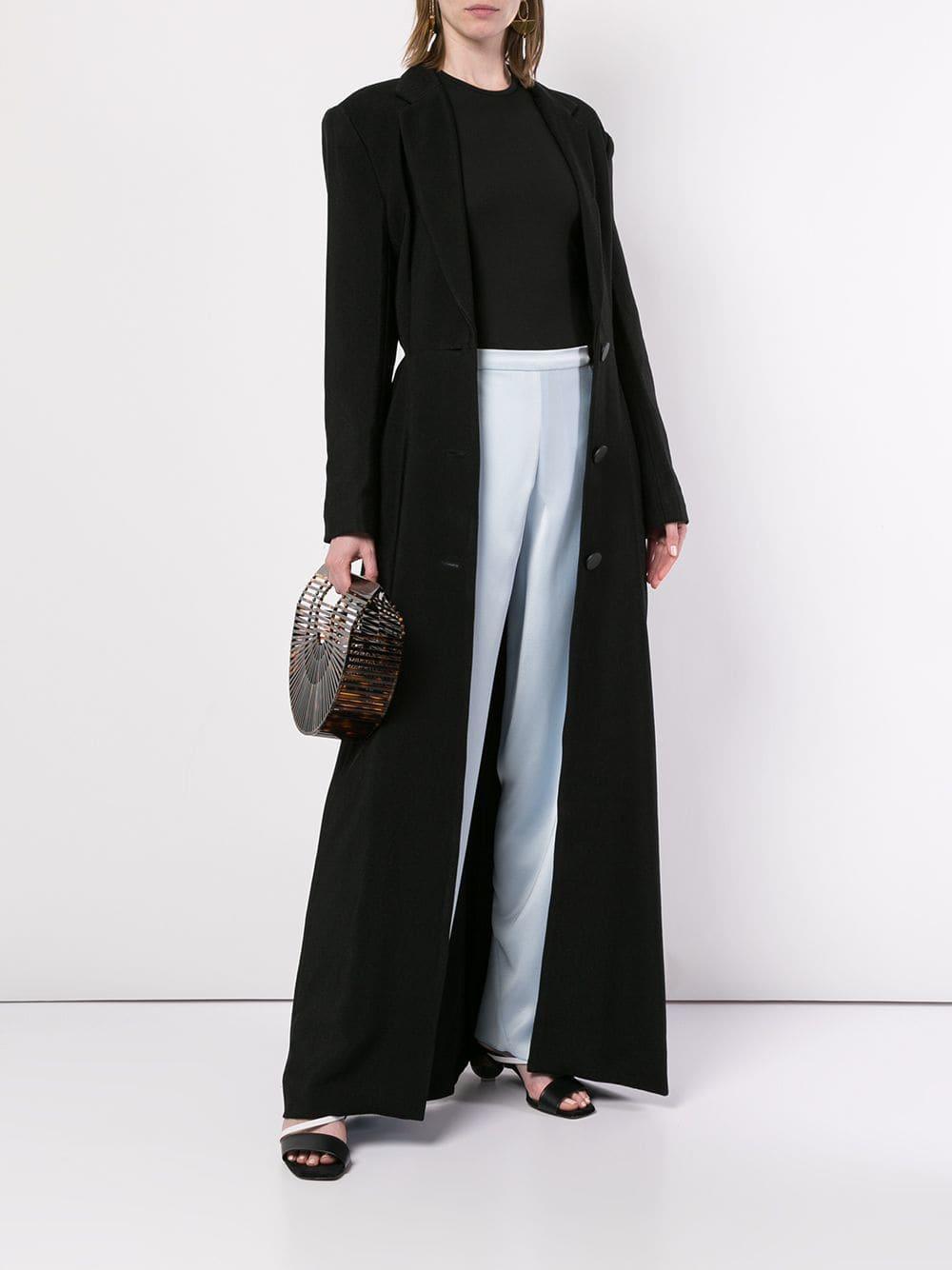 Manteau long Coton Christopher Esber en coloris Noir 3RqKE