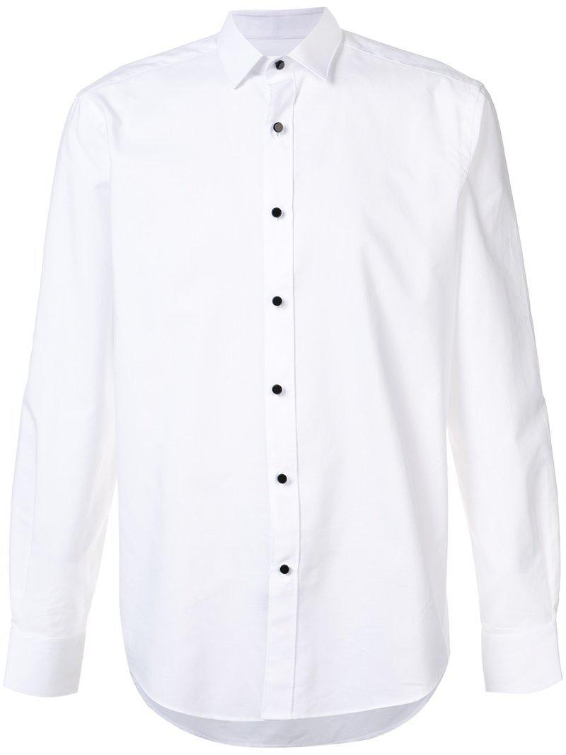 Lanvin. Men's White Classic Plain Shirt