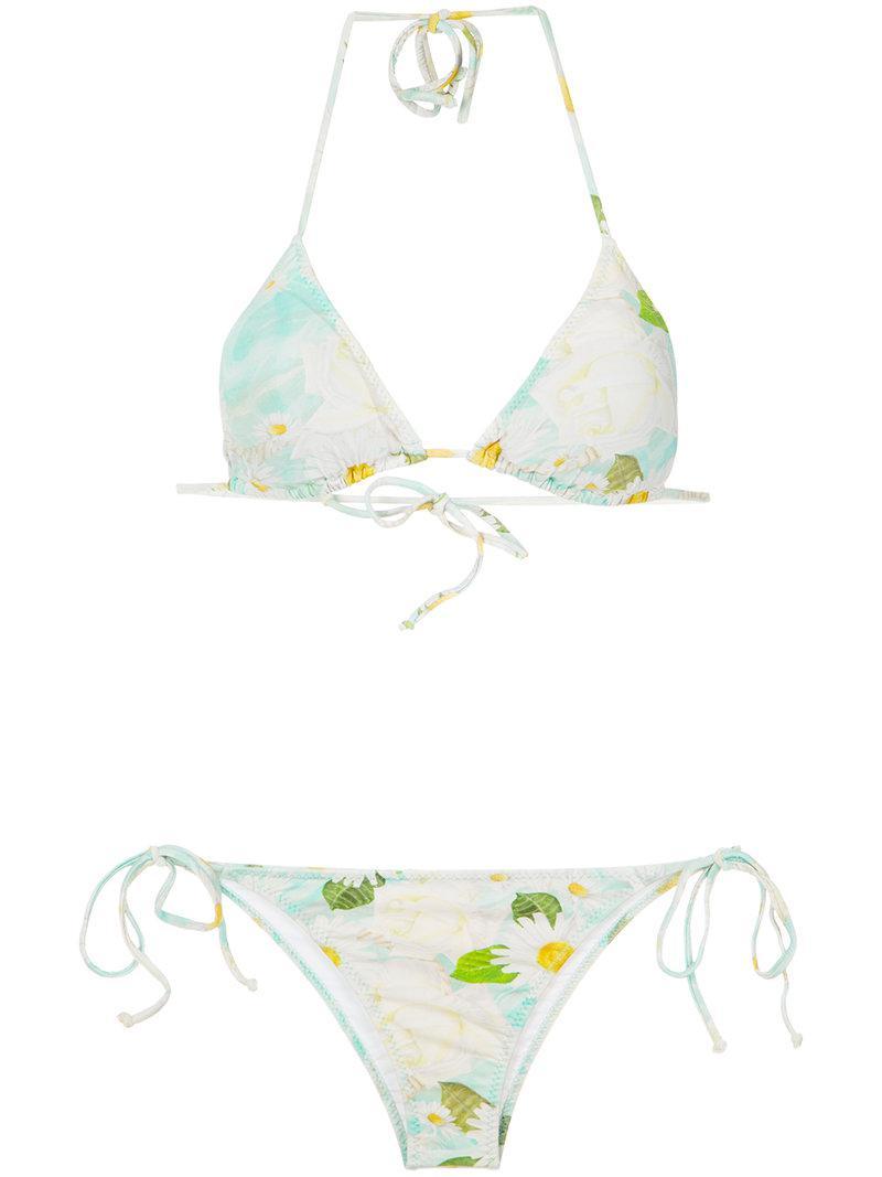 Outlet Factory Outlet Nicekicks Online foliage print bikini set - Green Isolda Comfortable Cheap Online mScwe