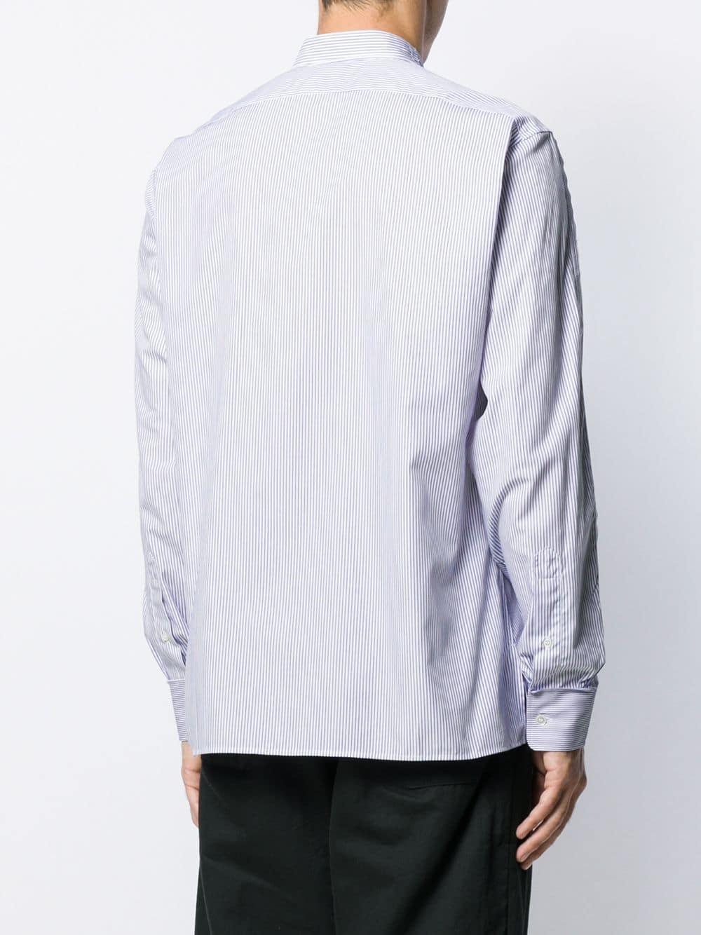 Golden Goose Deluxe Brand Ganzendons Gestreept Overhemd in het Blauw voor heren