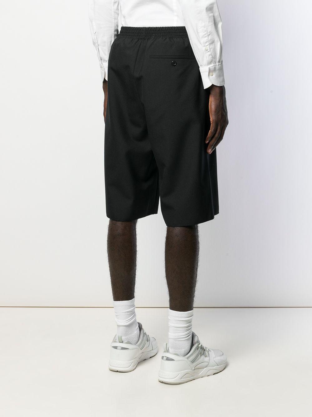 Camiel Fortgens Wol Shorts Met Elastische Taille in het Zwart voor heren