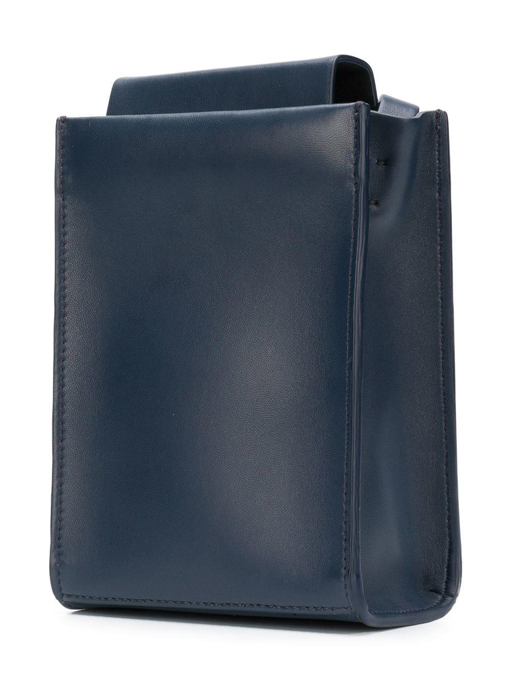 Aesther Ekme Leather Sling Tote Bag in Blue