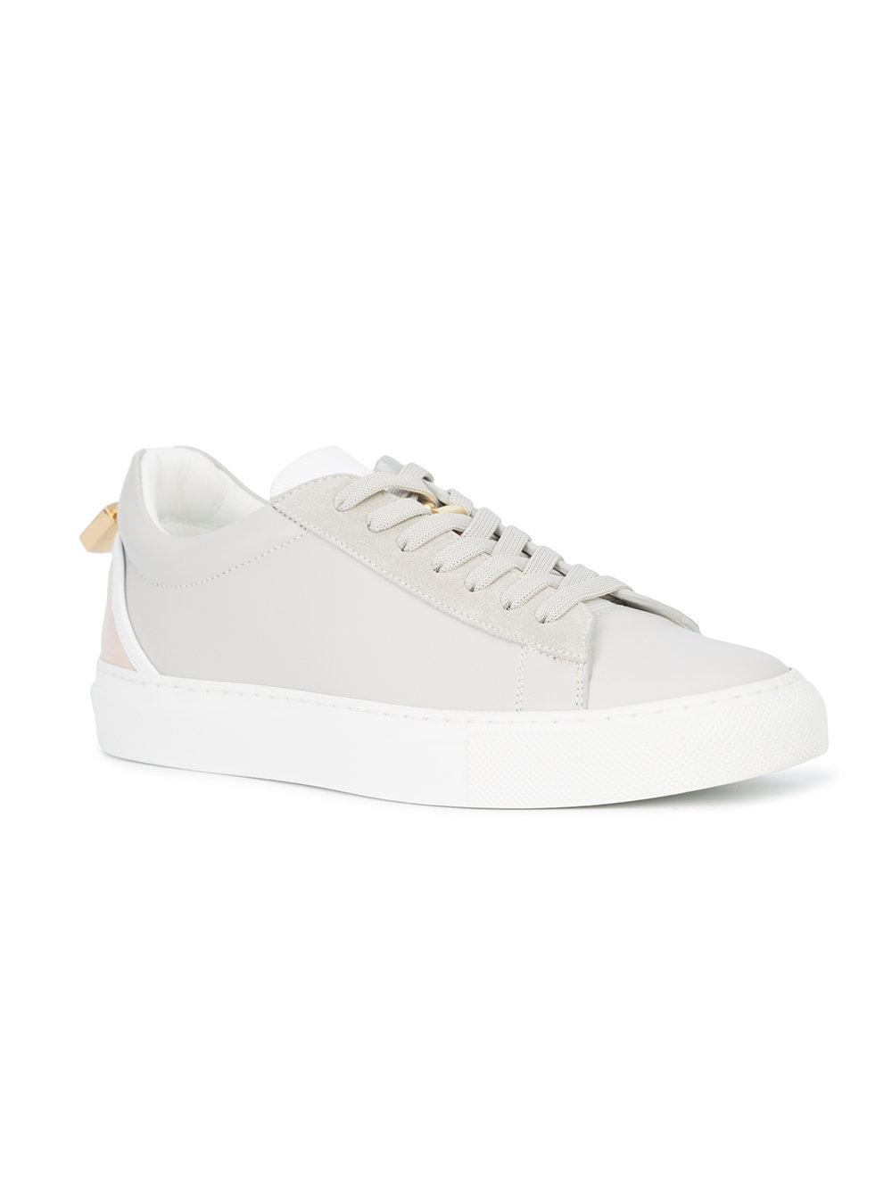 Buscemi Leather Tennis Sneakers in Grey (Grey)