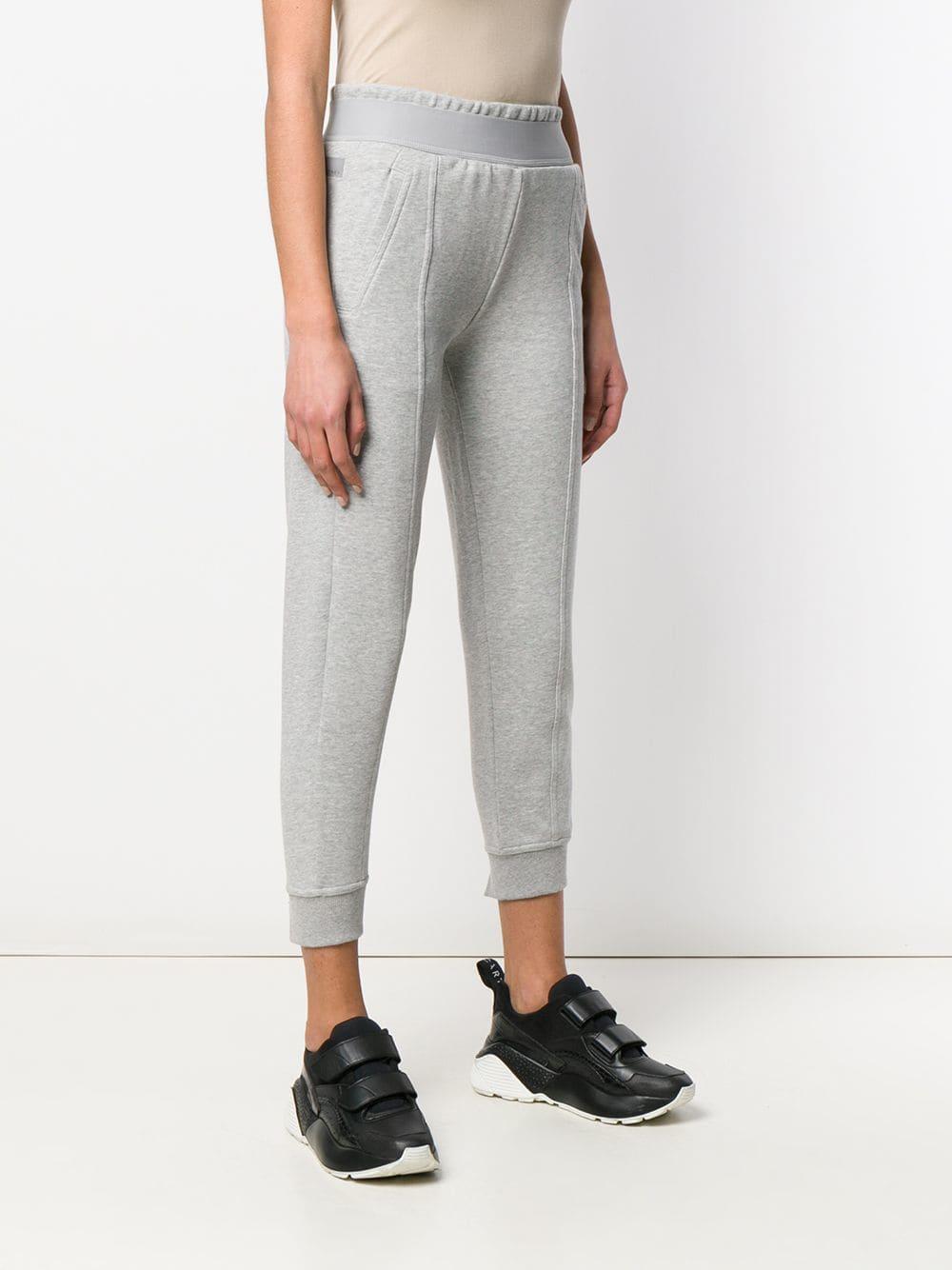 76798585e Adidas By Stella McCartney - Gray High Waisted Sweatpants - Lyst. View  fullscreen