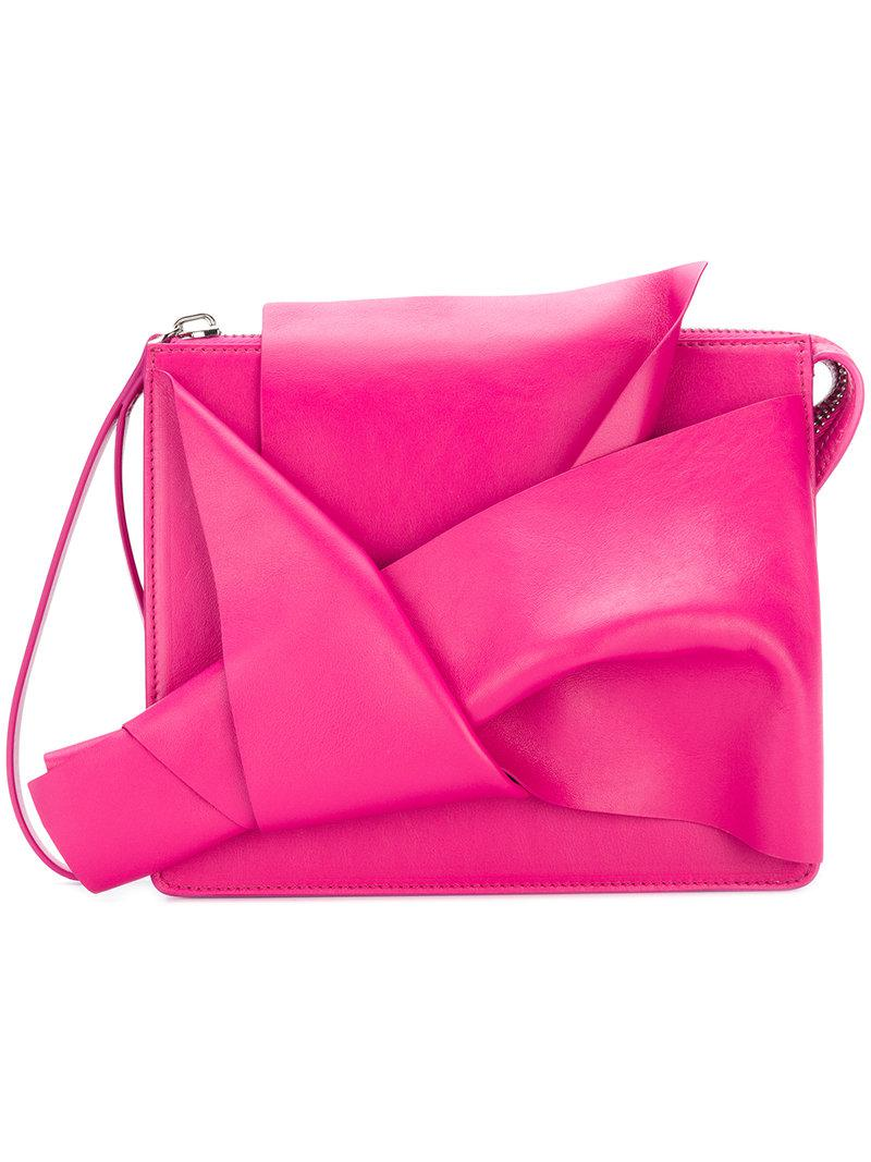 abstract bow clutch bag - Pink & Purple N JSure