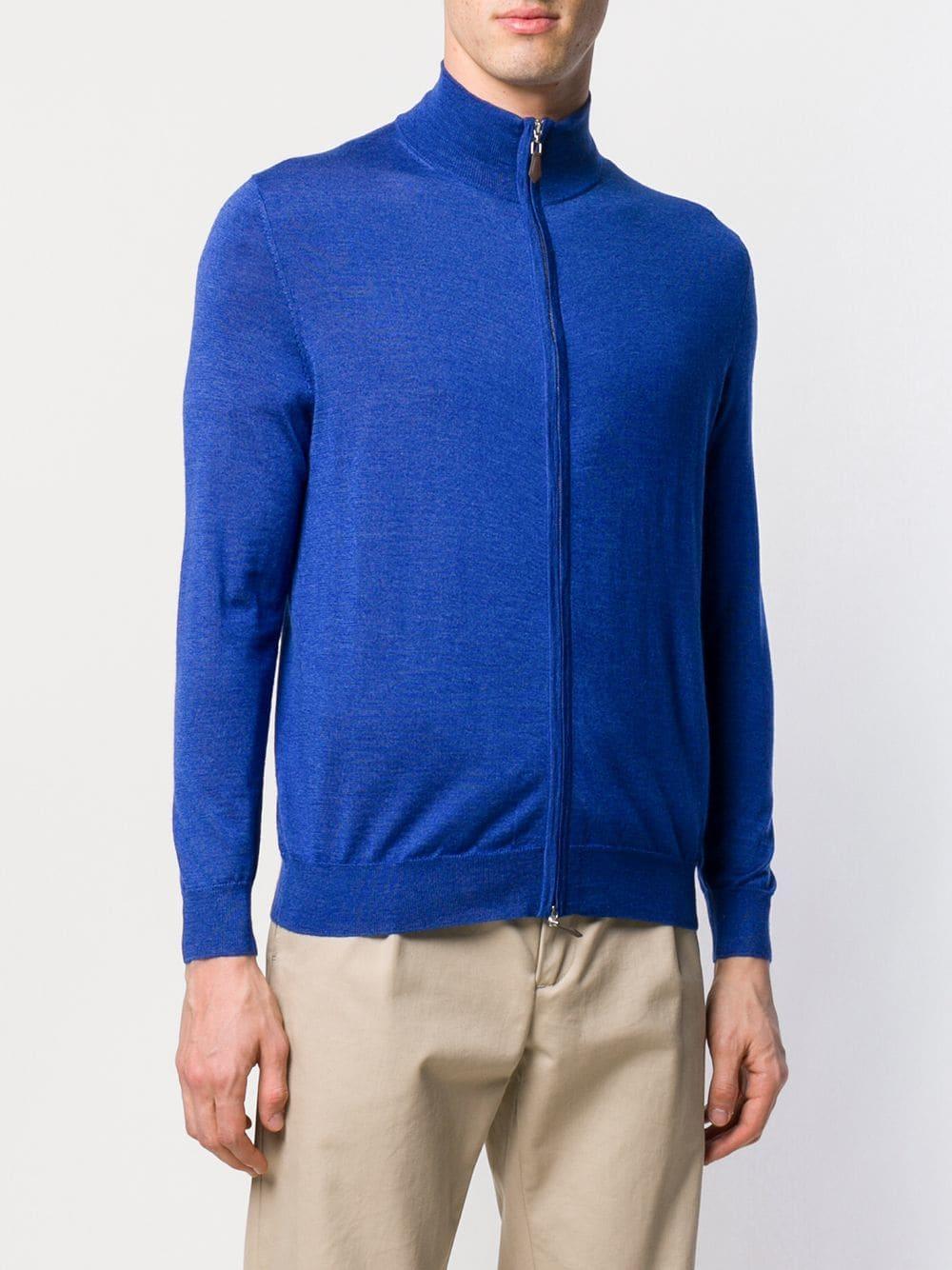 N.Peal Cashmere The Hyde Vest in het Blauw voor heren