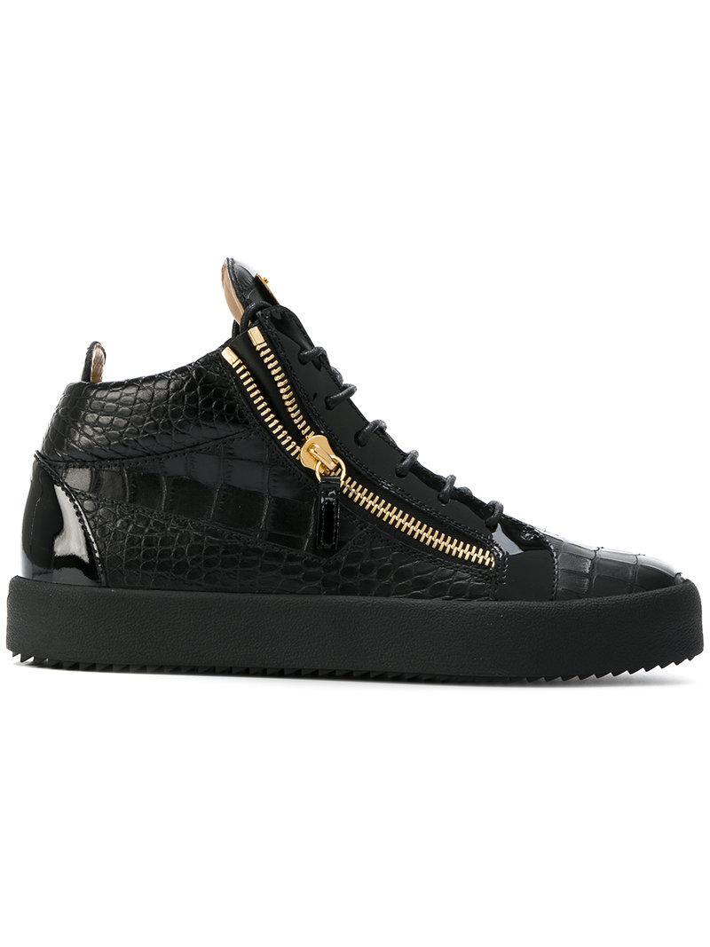 a24f6be8fef8 Giuseppe Zanotti Sneakers Mid-top in Black for Men - Lyst