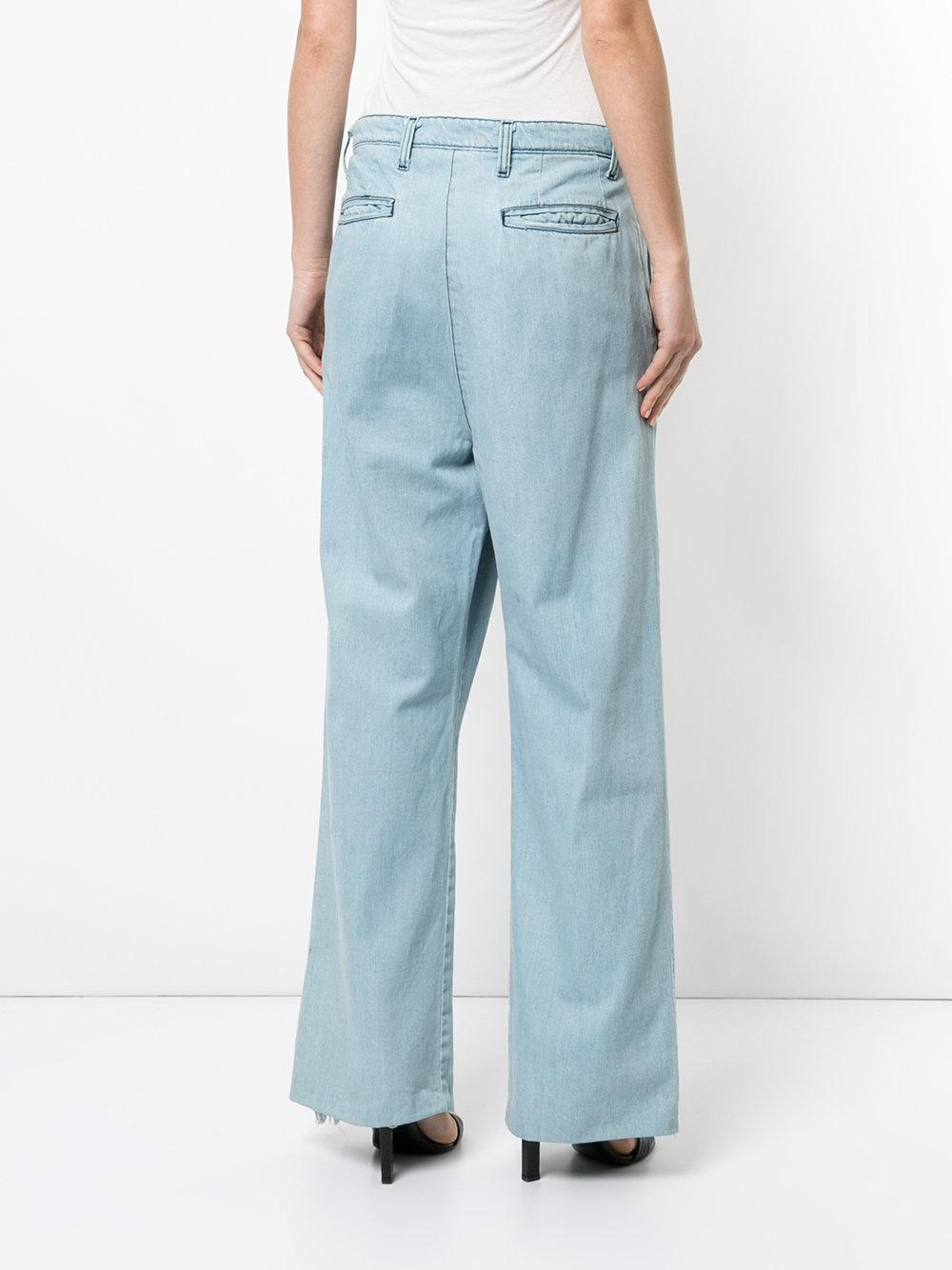 Strateas Carlucci Cotton Tunnel Pleat Trousers in Blue