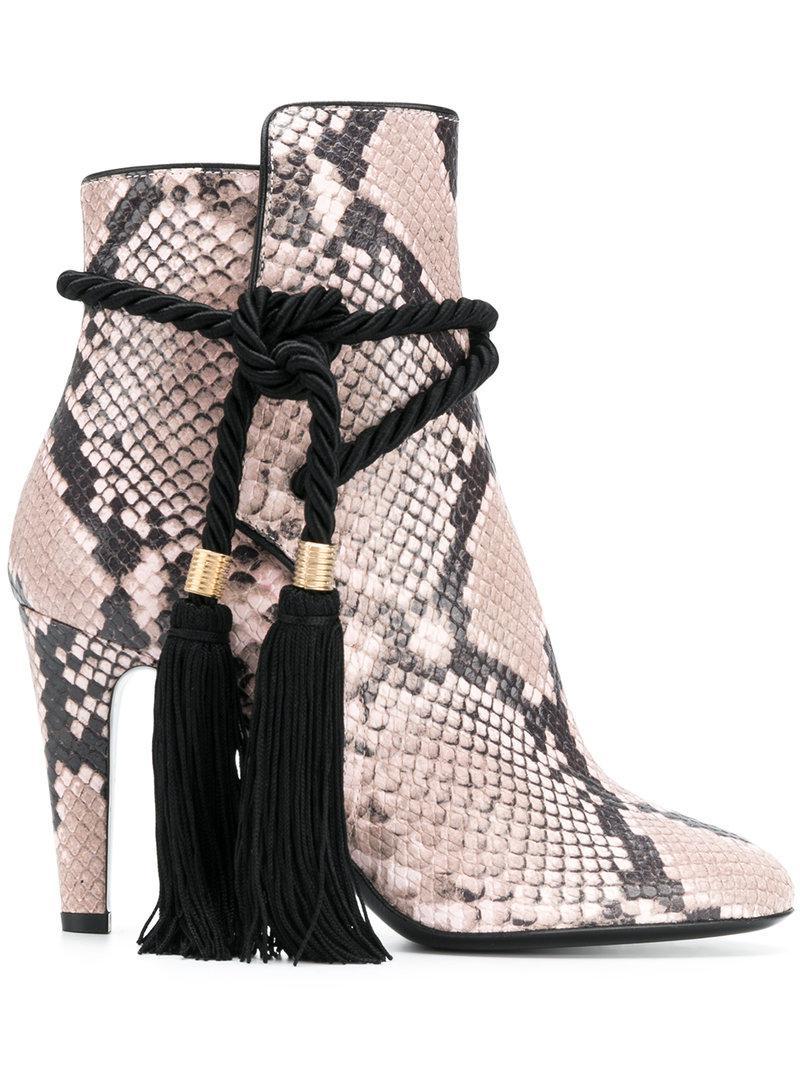 Affordable Sale Online snake-effect tassel boots - Pink & Purple Philosophy di Lorenzo Serafini Amazing Price Sale Online Big Discount SWRQb
