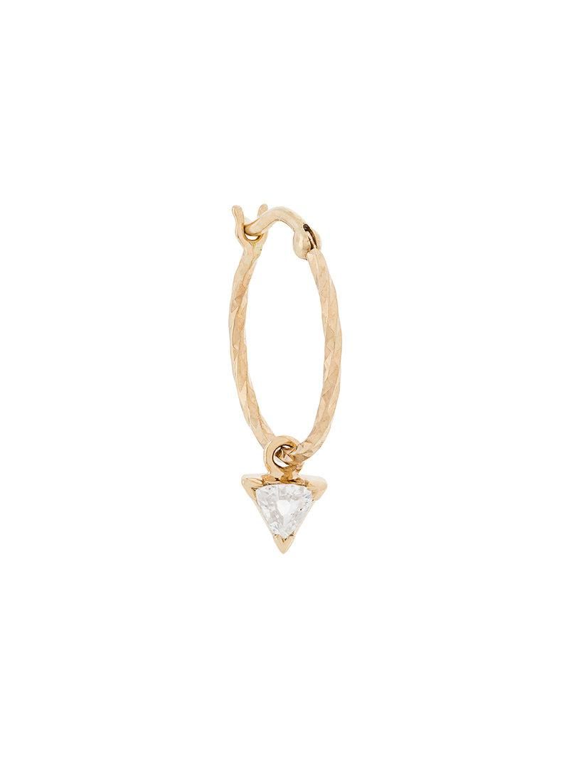 Maria Black 14kt gold Diamond Cut Vidi diamond earring - Metallic HFw5fve