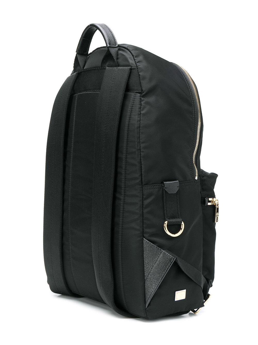 Dolce & Gabbana Synthetic Embellished Backpack in Black