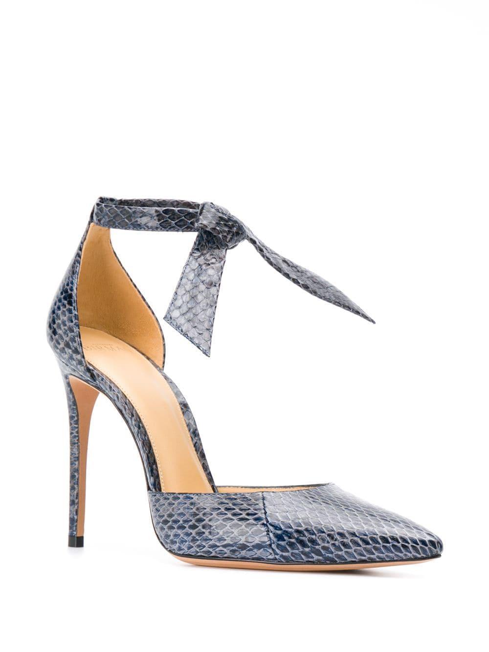 Zapatos de tacón con tira al tobillo Alexandre Birman de color Azul