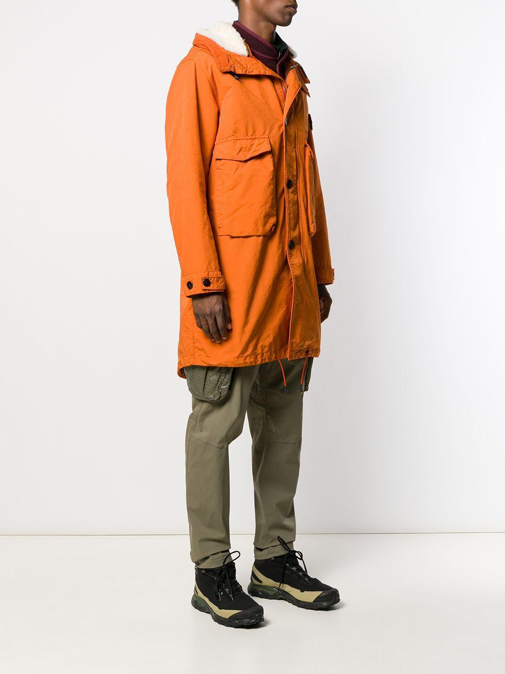 Stone Island Synthetisch Lammy Coat in het Oranje voor heren