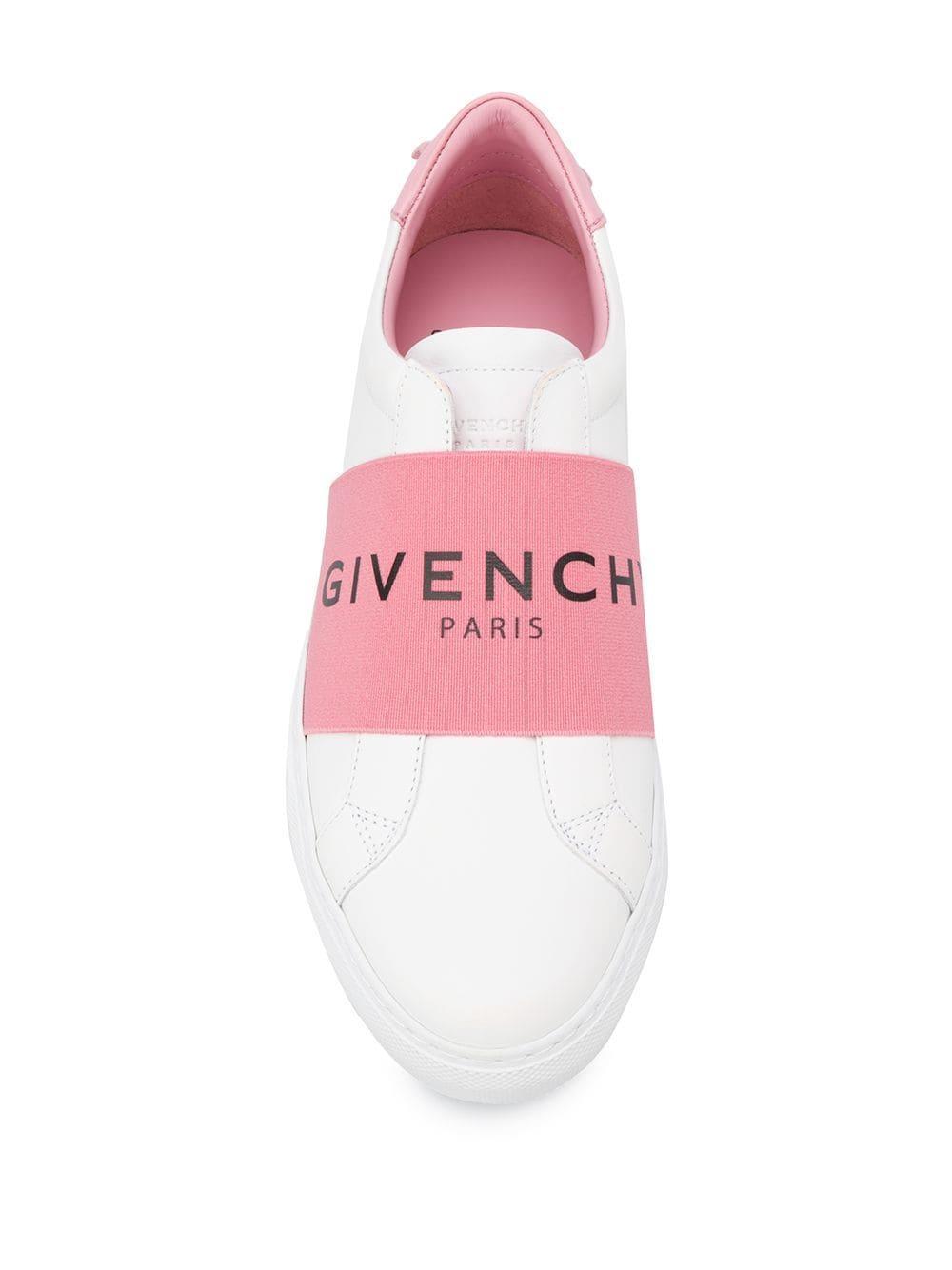 Zapatillas con logo en la correa Givenchy de Cuero de color Blanco