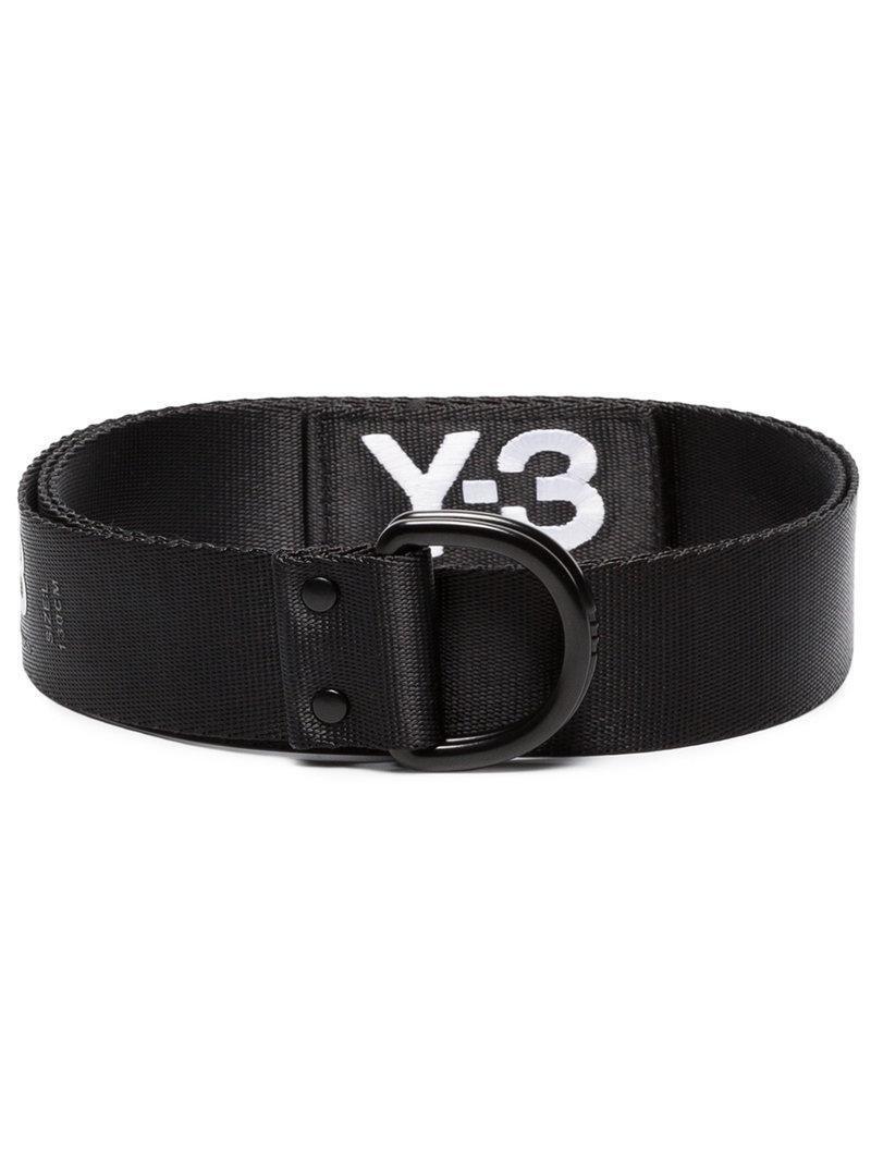 9dbb5142f20 Lyst - Ceinture à logo imprimé Y-3 pour homme en coloris Noir