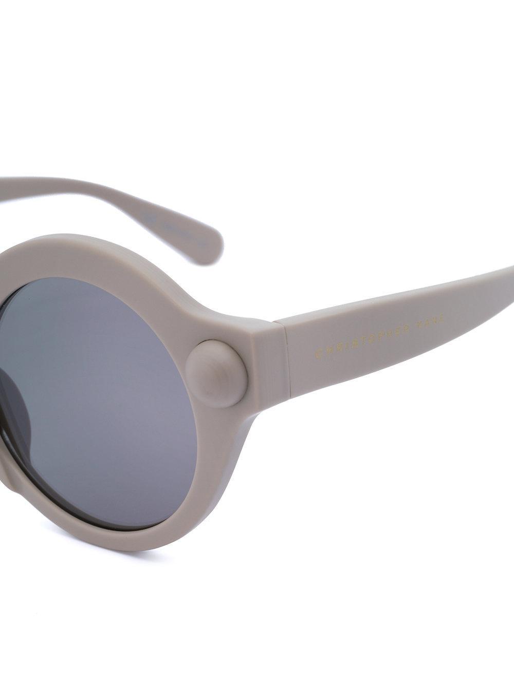 Christopher Kane Round-frame Sunglasses in Grey (Grey)