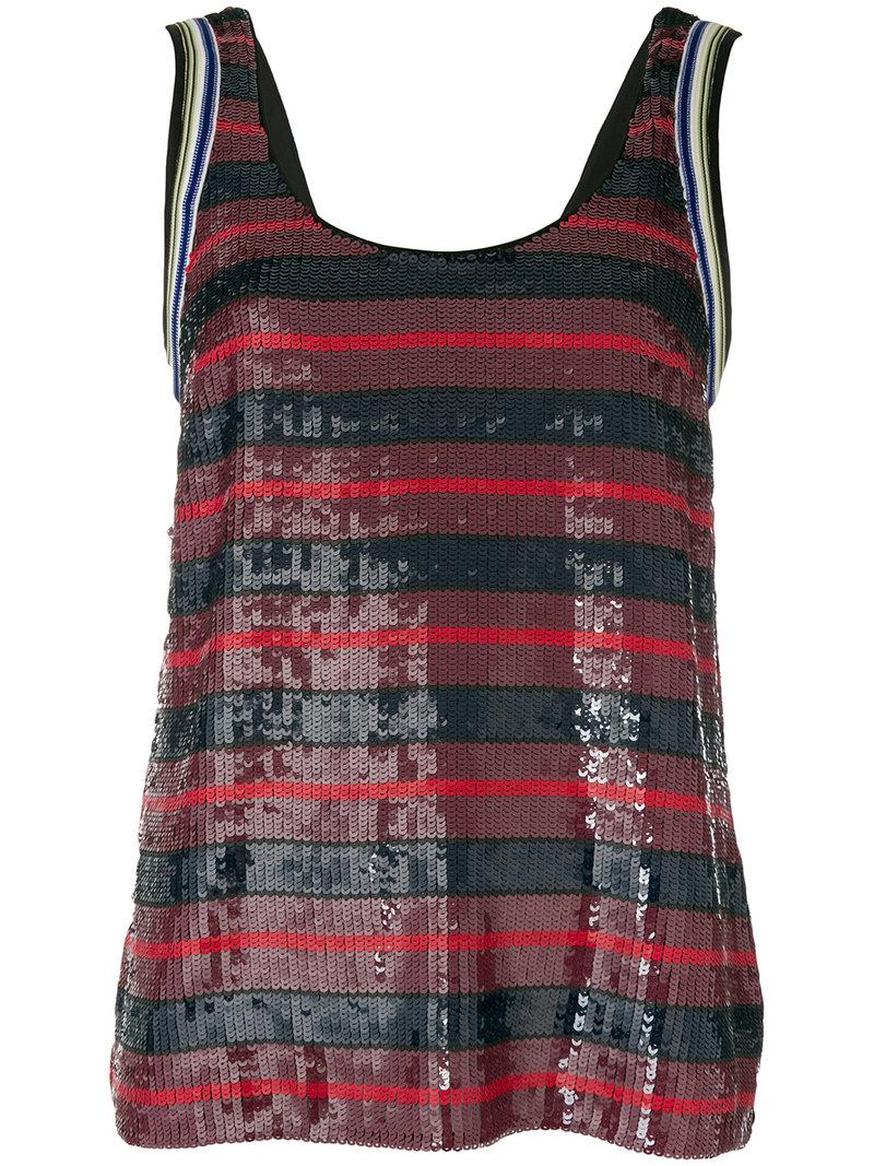 stripe embellished vest top - Multicolour 3.1 Phillip Lim Cheap Online Store Discount Footaction Big Discount For Sale Free Shipping Best Fake Ia4ZmDyEo