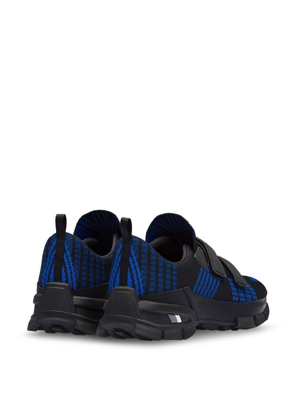 Prada Synthetisch Crossection Gebreide Sneakers in het Zwart voor heren