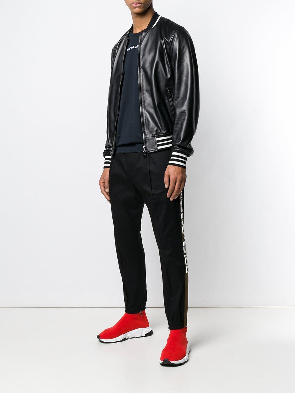 ddbf2a8b75 Lyst - Dolce   Gabbana Bomber Jacket in Black for Men