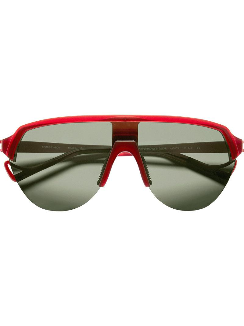 b05816f1ec15 Lyst - District Vision Black And Red Nagata Sunglasses in Red for Men