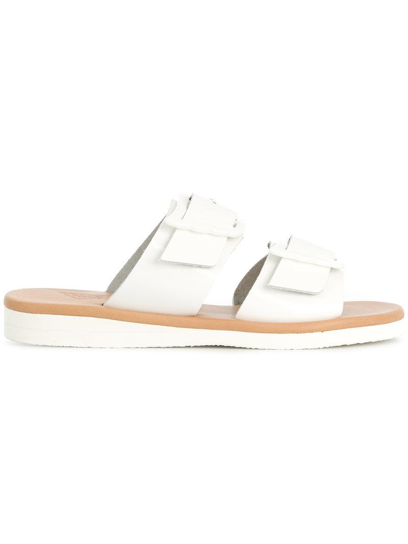 buckle strap sandals - White Ancient Greek Sandals XJBMxZ5sL