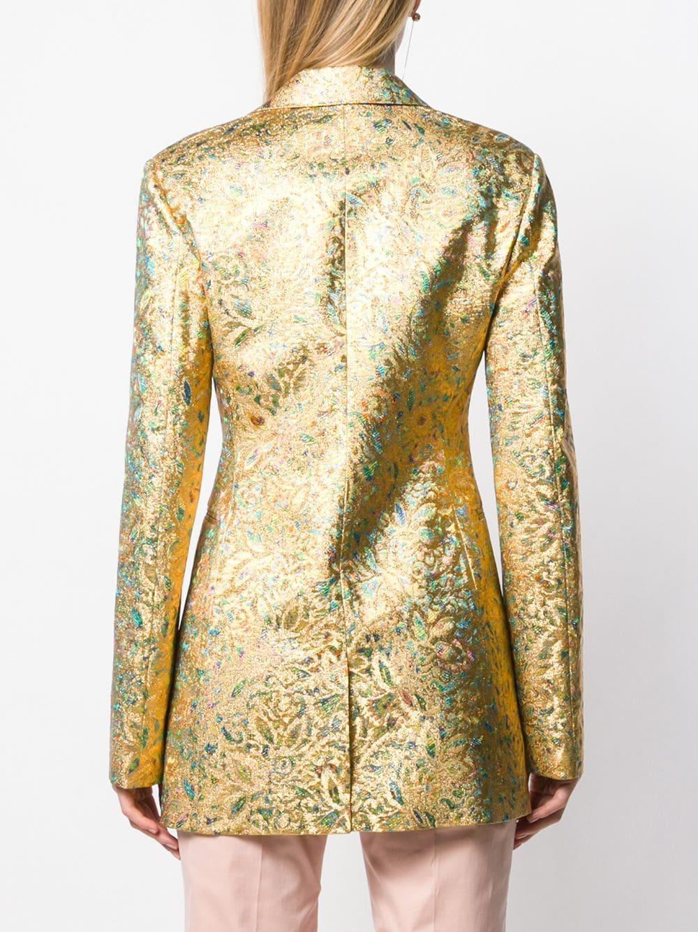 Blazer à effet métallisé Victoria Beckham en coloris Métallisé