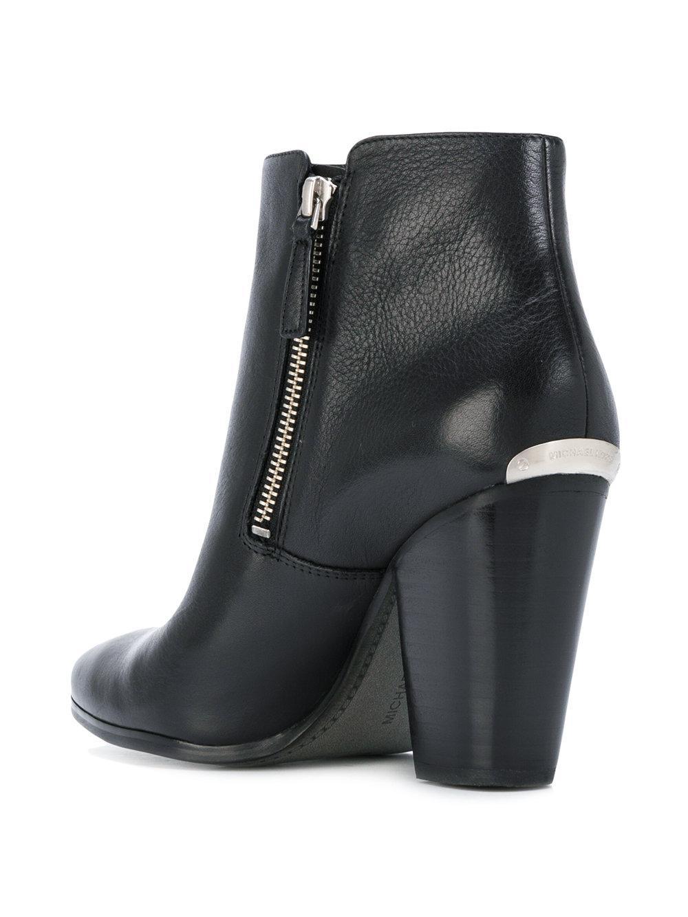 lyst michael michael kors denver ankle boots in black. Black Bedroom Furniture Sets. Home Design Ideas