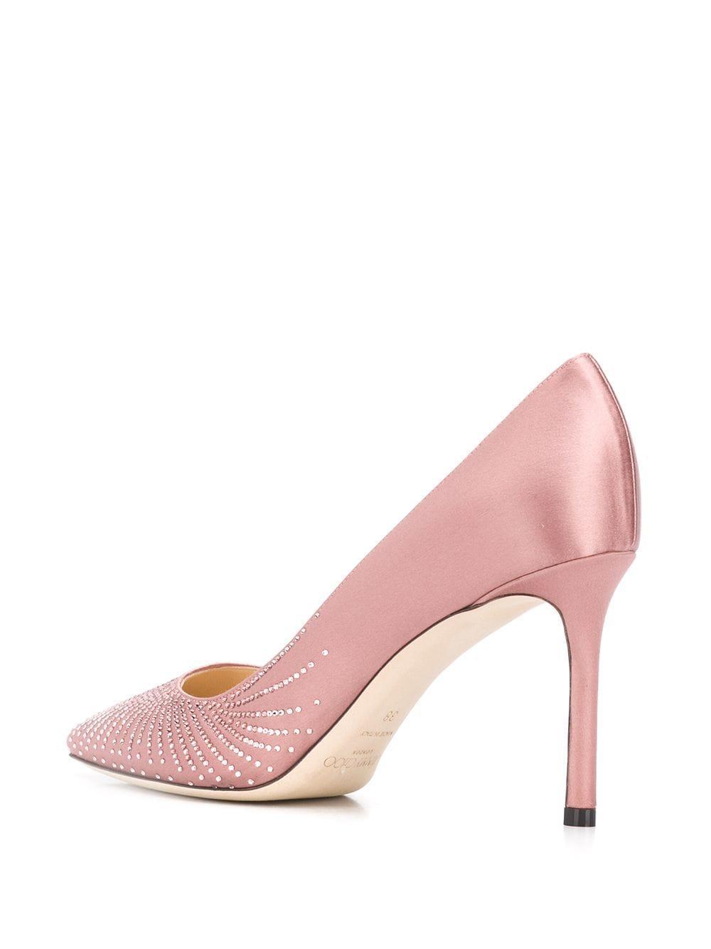 Zapatos de tacón Romy de 85mm Jimmy Choo de Cuero de color Rosa