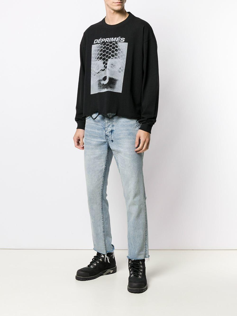 e5f893ae Enfants Riches Deprimes Ripped Detail Sweatshirt in Black for Men - Lyst