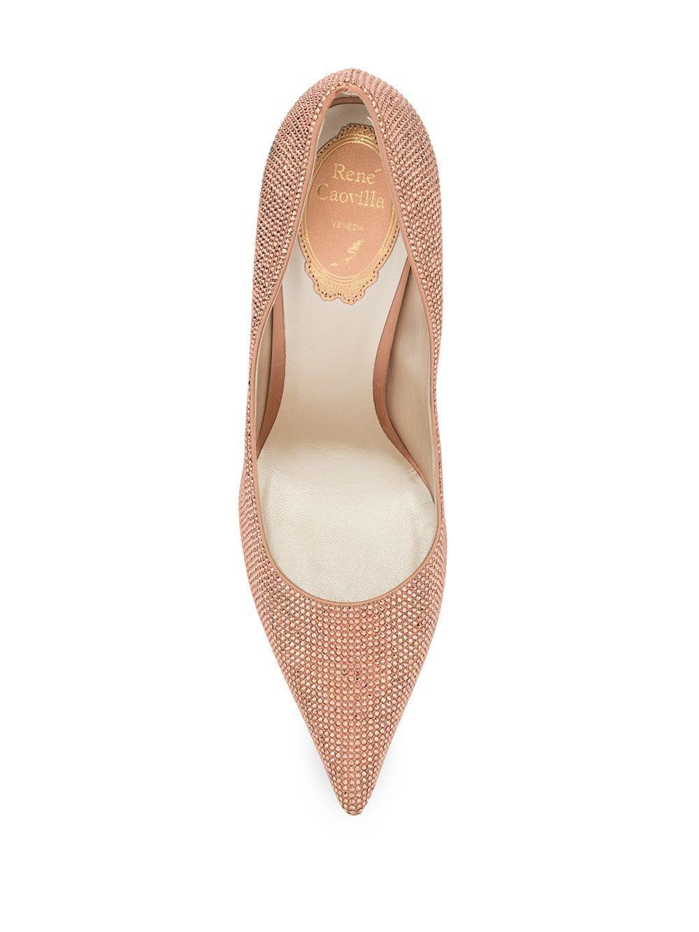 Zapatos de tacón Stephia Rene Caovilla de Cuero de color Rosa