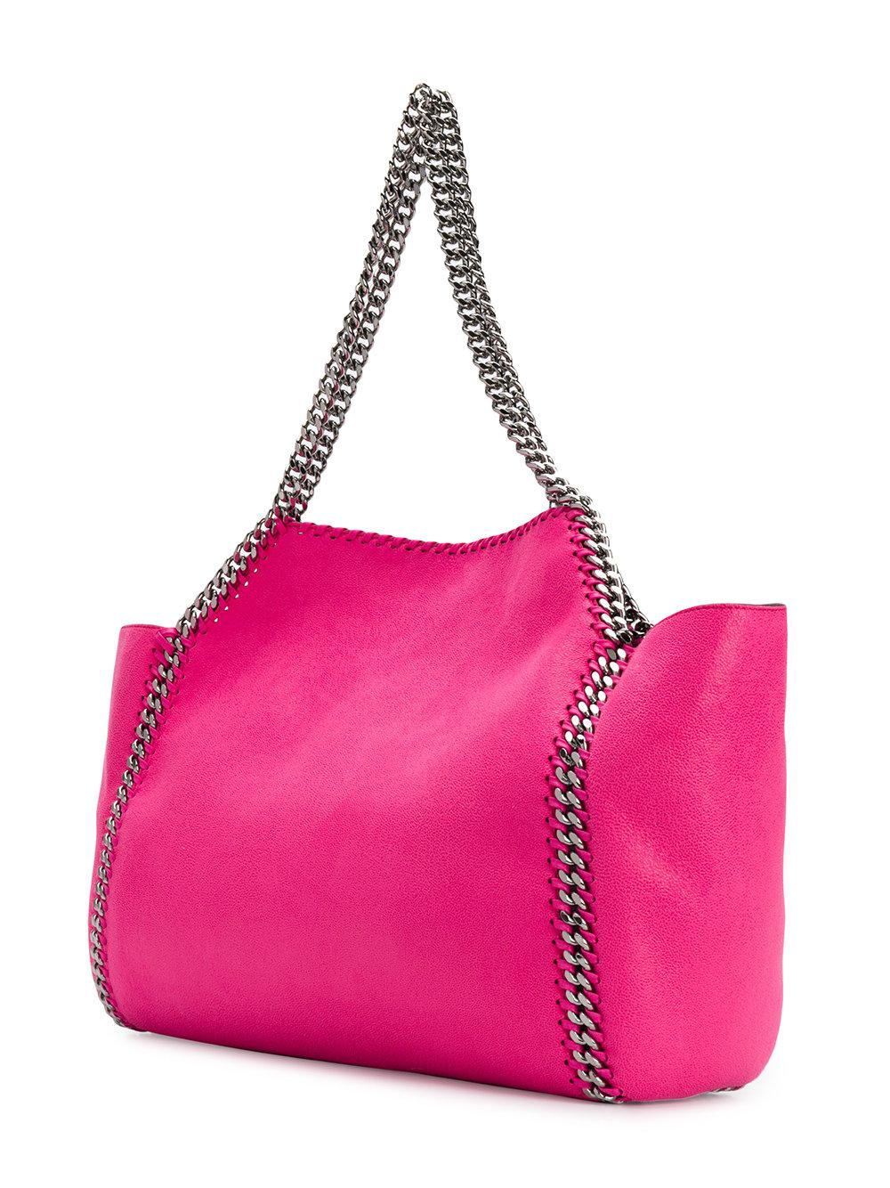 Stella McCartney Leather Reversible Falabella Tote Bag in Pink & Purple (Pink)
